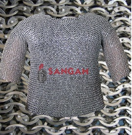 Chain mail Aluminum 10 mm flat riveted with soiled ring