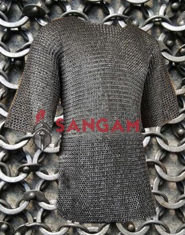 Chainmail 9 mm Round riveted with soiled ring