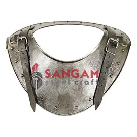 Medieval Dark Warrior Gorget Neck Body Armour Silver