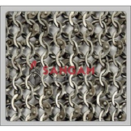 8 mm chain mail (Round Riveted With Solid Ring)