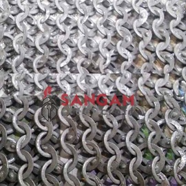 CHAIN MAIL 7 MM WEDGE RIVETED WITH SOLID RING